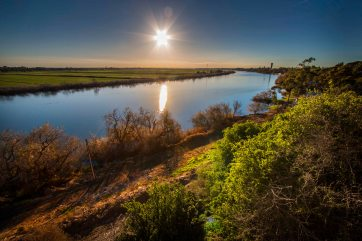 Sunset over River Murray taken at Tailem Bend